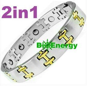 Hematite Magnetic Titanium Steel Energy Power Bracelet Health Bio Men's Male