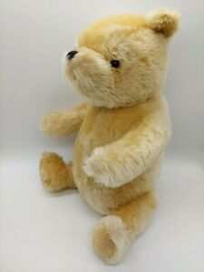 """** COLLECTIBLE 12"""" JOINTED CLASSIC POOH GENUINE MOHAIR DISNEY **"""