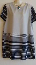 Womens Ladies Lovely Black White Grey Boohoo Shift Dress Size 14 US 10 EU 42