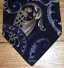 Wentworth Tie Black Blue White Maroon Green Tan Gray Paisley Design NIB t3399