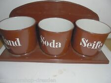 26531 Sand Seife Soda Küchenhänger Emaille braun brown enamel laundry set VEWAG