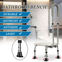 Bathtub & Shower Step Stool With Handle & Non-Slip Grip-Steel Holds up to 330lbs