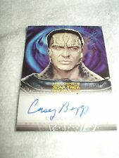 Star Trek Autograph Card Deep Space Nine Casey Biggs as Damar A16