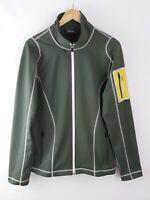 """Men's Peak Performance Sweden Soft Shell Jacket Size L Large 22"""" P2P Sage Green"""