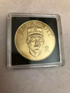 JIM ABBOTT MLB Sport Stars Bandai Brass Coins. 1990 in case!