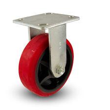 """6"""" x2"""" Polyurethane Wheel Rigid Caster- Heavy Duty! Industrial!"""