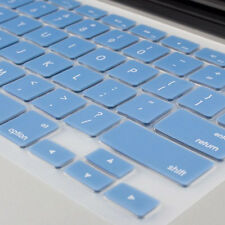 """SKY BULE High Quality Keyboard Cover Silicone Skin for MacBook Pro 13""""15''17''"""