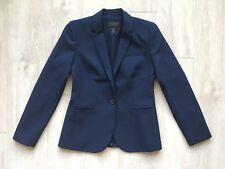 New J.CREW Campbell blazer in Italian stretch wool Blue Size 4 B3231 $288