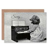 Sorry Little Folk Of Animals Dogs Cats Birthday Blank Greeting Card