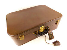 Authentic HERMES Vintage Brown Leather LuggageTravel Trunk Case + Key&Clochette