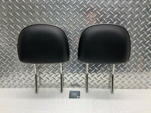 13-15 CHEVROLET MALIBU LTZ FRONT SEAT HEADREST SET HEAD RESTS BLACK LEATHER OEM