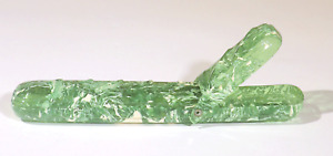VINTAGE GREEN MARBLED CELLULOID PLASTIC TRAVEL TOOTHBRUSH CASE ALLIGATOR WHALE