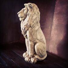Royal Lion Standing Statue Stone Regal Large Garden Ornament