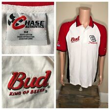 DALE EARNHARDT JR Budweiser King of Beers Vintage NASCAR t-Shirt Polo Collared