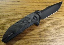 NEW Brous Blades STRIFE Flipper Knife BLACK D2 Carbon Fiber 1000 Made CHOICE S/N
