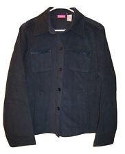 NWT CAPPAGALLO Navy Blue JACKET Coat Weave Blazer Womens size L Large NEW