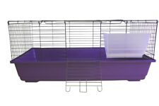 HERITAGE HPP1 PURPLE RABBIT 100CM CAGE PET INDOOR GUINEA PIG HUTCH HOUSE CAGES
