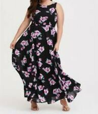 86370baf3cc Torrid Black Floral High Neck Georgette Maxi Dress 2x 18  24176