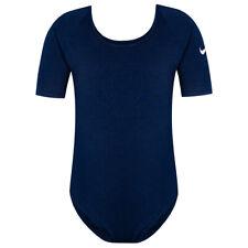 Nike Mädchen Leotard Einteiler Sport Gymnastik Oberteil 421933-451 Blau neu