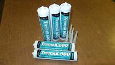 5 tubes of Tremco Tremsil 600 clear silcone sealant