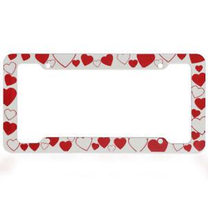2PCS Plastic License Plate Holder Frame Lovely Cute Romance Universal