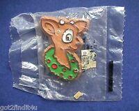 Hallmark PIN Christmas Vintage REINDEER with WREATH Holiday Brooch MIP
