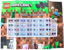 """NEW LEGO 21116 Minecraft Crafting Box 16x22"""" POSTER - BRAND NEW - DUAL SIDED"""
