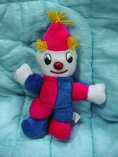 "Vtg-14""-Shalom-Clown-Hot Pink-Dk Blue-Yellow Yarn-Stuffed Animal Plush Toy Doll"