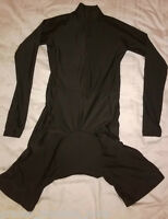 Black Cycling Skinsuit - Long Sleeved - Large with Slightly Wider Sleeves