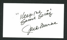 Jack Burke Jr. signed autograph auto 2x3.5 cut Golf Hall of Fame Member G02