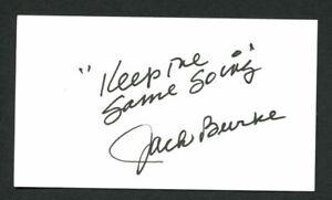 Jack Burke Jr. signed autograph auto 2x3.5 cut Golf Hall of Fame Member G02