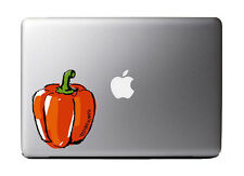 "Watercolor Red Bell Pepper Full Color - Vinyl Decal for 13"" Macbook …"