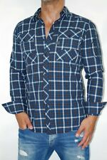G-Star Camicia Uomo Coban AW2 Maglia - TG. L Blu Pacifico - Lago Wood a Quadri