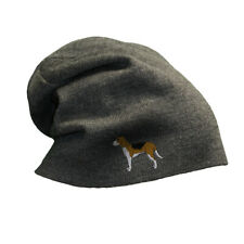 Slouchy Beanie for Men American Foxhound Embroidery Winter Hats Women Skull Cap