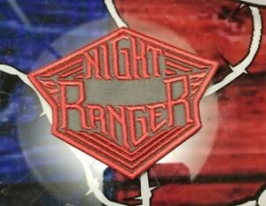 EMBROIDERED NIGHT RANGER ROCK BAND VINTAGE RED PATCH