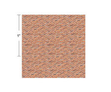 1:144 Scale Dollhouse - Wee Little Distressed Bricks on Card Stock w/Free Tool