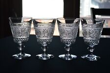 4 Duncan Miller Early American Sandwich Glass #41 Water Goblets