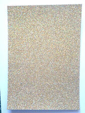 3 x A4 sheets quality Low shed Fixed Glitter card  250 gsm 24 lovely colours