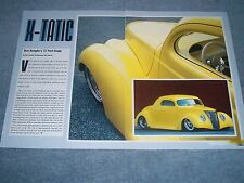 "1937 Ford 3-Window Coupe Street Rod Article ""X-Tatic"""