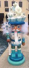 """Kurt Adler 15"""" Hollywood Polar Bear Hat Christmas Holiday Blue Nutcracker HA0212"""