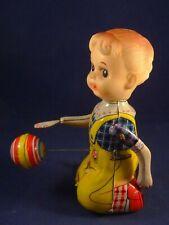 Ancien jouet mécanique automate tôle la jeune fille au ballon JAPAN TPS 1960