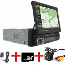 "1 Din 7"" Car Mp5 Spieler AUTORADIO MIT GPS NAVIGATION NAVI BLUETOOTH+KAMERA DHL"