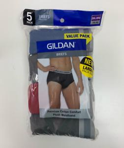Gildan Briefs Assorted colors 5 pack 2XL