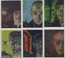 THE ART OF ROBERT ARAGON COLLECTOR CARDS ETCHED FOIL THE FACES OF FEAR SET OF 9