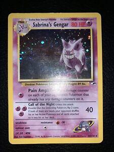 Sabrina's Gengar 14/132 - Moderate Play Holo Rare Pokemon Card Gym Heroes READ