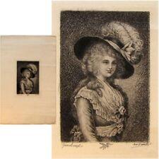 Portrait à identifier Thomas Gainsborough gravure taille douce Benjamin Damman