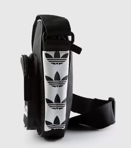 ADIDAS ORIGINALS TAPE MINI CROSSBODY BAG Shoulder Black