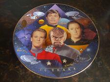 Star Trek-Starfleet Navigators Plate-Hamilton Collection-With Box-With Coa