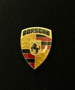 Vintage Porsche Logo Shield Tac Pin