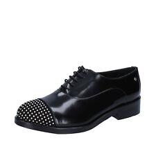 scarpe donna REVE D'UN JOUR 39 EU classiche nero pelle lucida camoscio BZ462-E